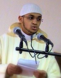 Recitador Nur al-Din Hamza al-Maghribi